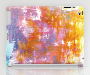 abstract art, mixed media, and rainbow colors image