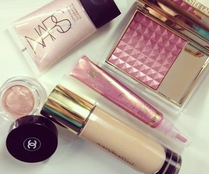make up, chanel, and nars image