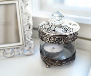 candle, interior, and silver image