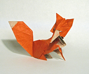 fox and origami image