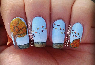 Amazing Fall Autumn Nail Art Designs Ideas Trends