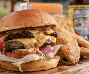 food, burger, and yum image