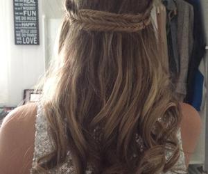 braid, curls, and hair image