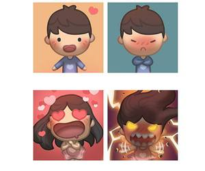 love, dislike, and couple image