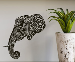 decal, elephant, and home decor image