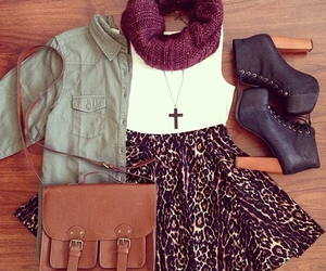 fall, scarf, and heels image