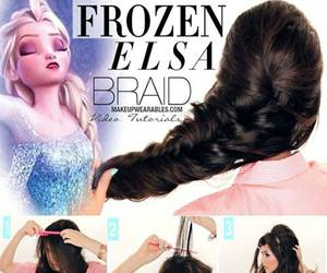 beautiful, hairstyle, and frozen elsa image