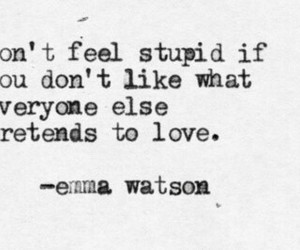 love, emma watson, and quote image