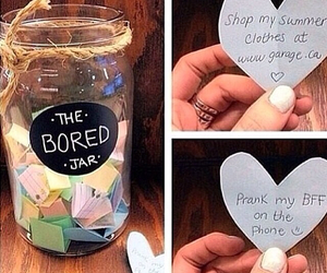 diy, bored, and jar image