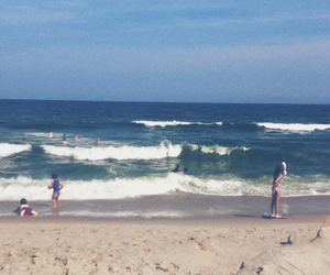 beach, New Jersey, and swimming image