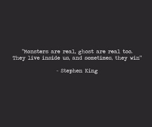 quote, monster, and Stephen King image