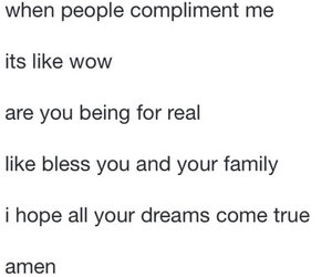 compliments, funny, and me image