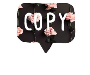 copy, flower, and like image