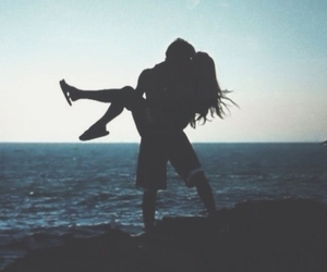 beach, kissing, and love image