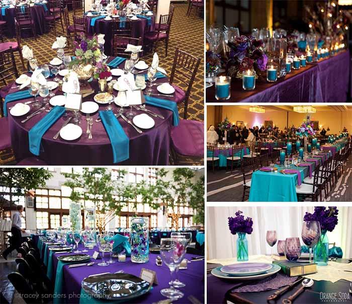 Ideas of Purple and Teal Wedding Party | Happyinvitation.com ...