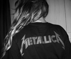 metallica, juliana flesch, and black and white image