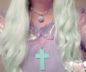 girly, hair, and mint image