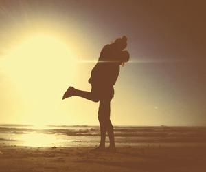 kiss, love, and beach image