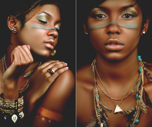 African, black girl, and black woman image