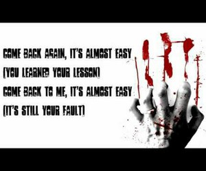 avenged sevenfold, blood, and dark image