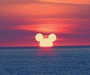 disney, sunset, and love image