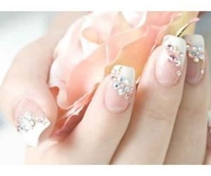 lovely, nails, and rose image