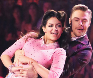 derek hough, bethany mota, and team internet image