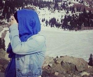 hijab, hijab style, and scarf image