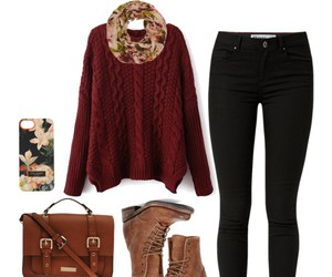beauty, boots, and fall image