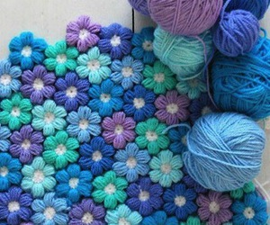 diy, flowers, and crochet image
