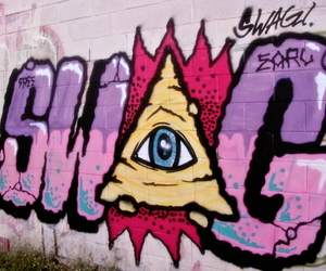 swag, graffiti, and illuminati image