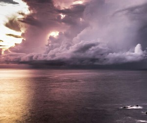 sea, clouds, and color image