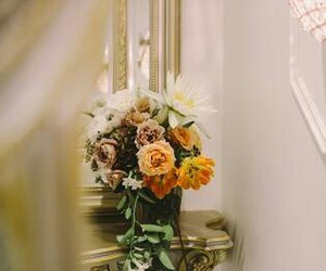 deco, flowers, and wedding image