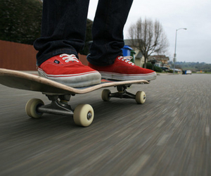 board, red, and ride image