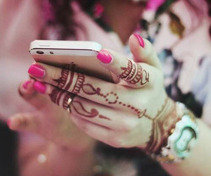 henna, iphone, and nails image