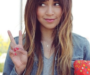 hair, bangs, and ombre image