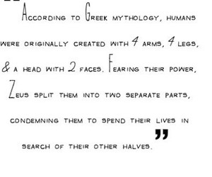 mythology, greek quotes, and your other half image
