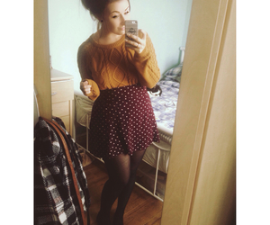 autumn, burgundy, and cosy image