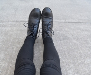 black, legs, and fashion image