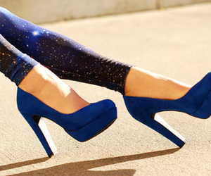 blue, shoes, and heels image