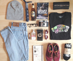 fashion, vans, and book image