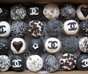 chanel, fashion, and cupcakes image