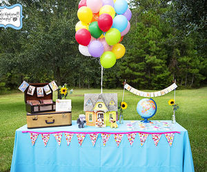 ballons, up, and party image