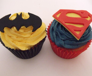 batman, cream, and cupcakes image