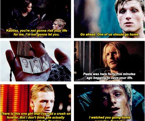 catching fire, the hunger games, and peeta image