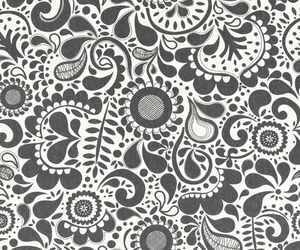 black and white, pretty, and wallpaper image