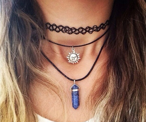 choker, girl, and necklace image