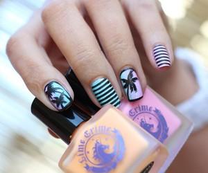 nail polish, nail design, and nail art image