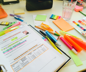 study, school, and highlighter image