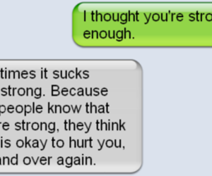 strong, text, and hurt image